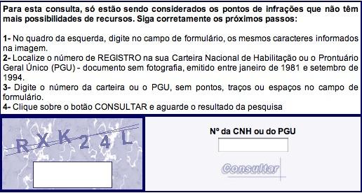 Pontos CNH no Detran RJ: Consultar Online
